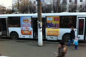Реклама на автобусах в Кирове Дорожное_Радио_1