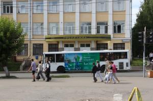 Реклама на городских автобусах в Кирове Мегафон_2