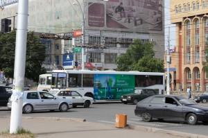 Реклама на общественном транспорте в Кирове Мегафон_3