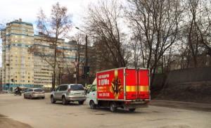 Реклама на газелях в Кирове Цум