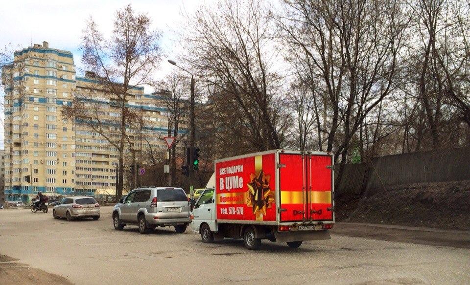 Реклама на транспорте, газелях в Кирове - Цум