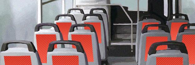 Реклама на сидениях. Реклама в автобусах Кирова